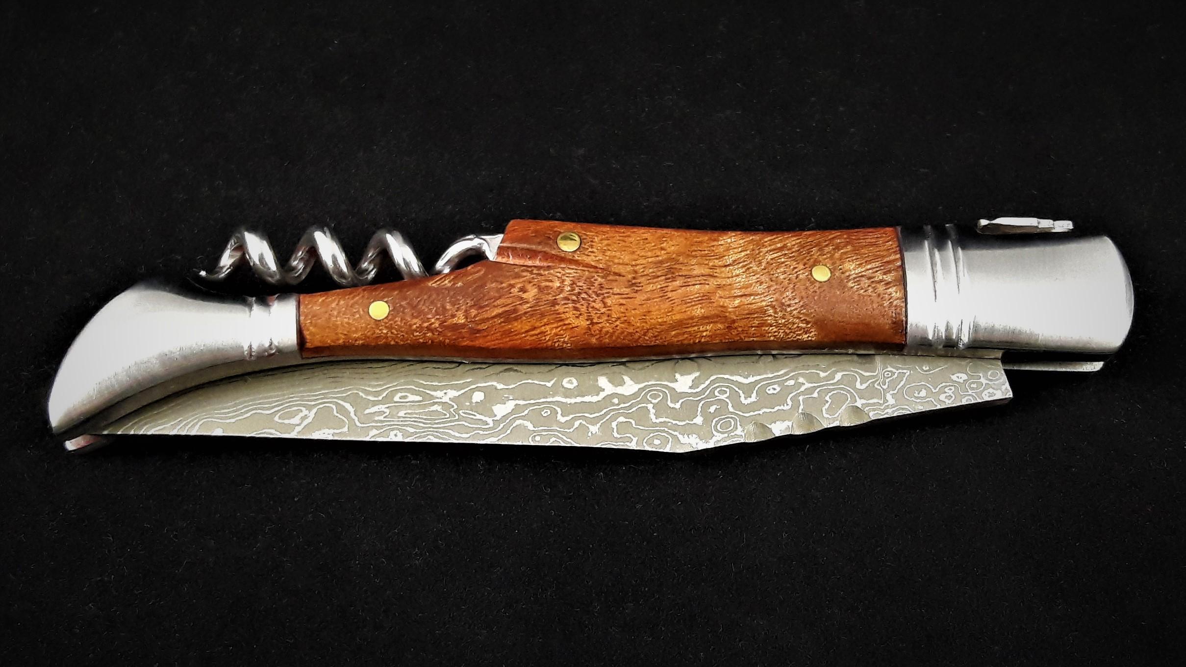 Taschenmesser mit Korkenzieher Quitte/Damast