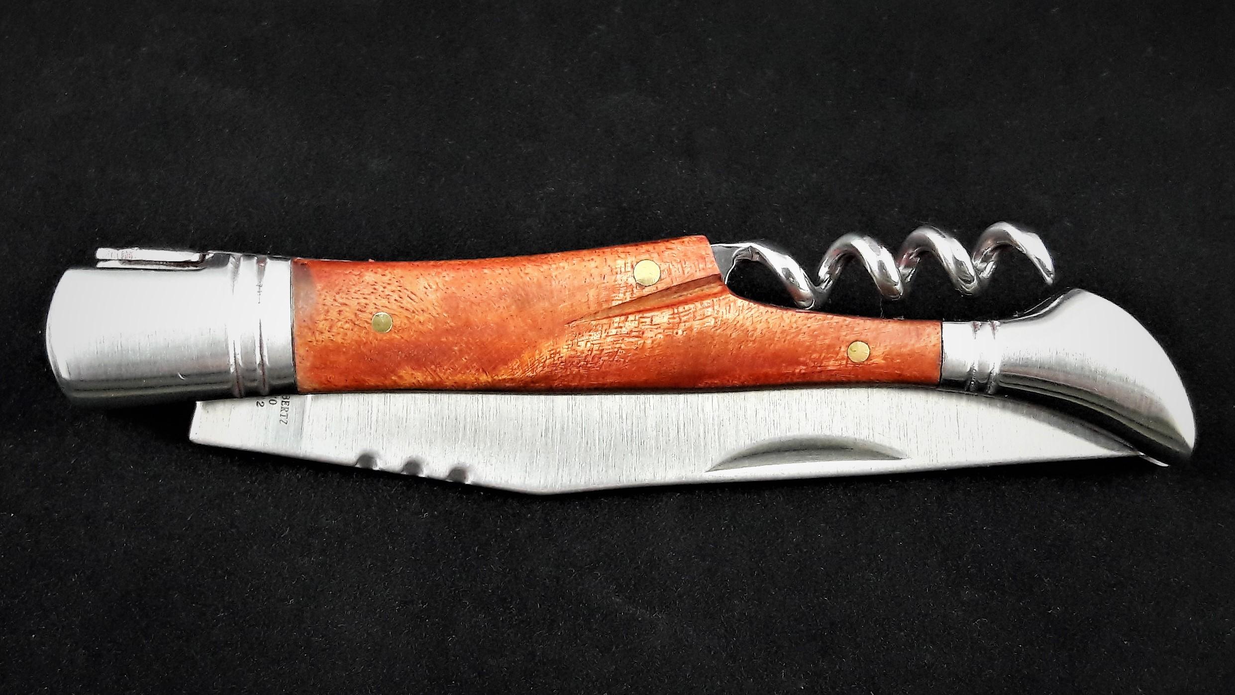 Taschenmesser mit Korkenzieher Quitte/Stahl